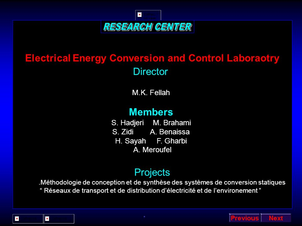 Electrical Energy Conversion and Control Laboraotry