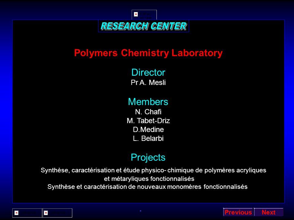 Polymers Chemistry Laboratory