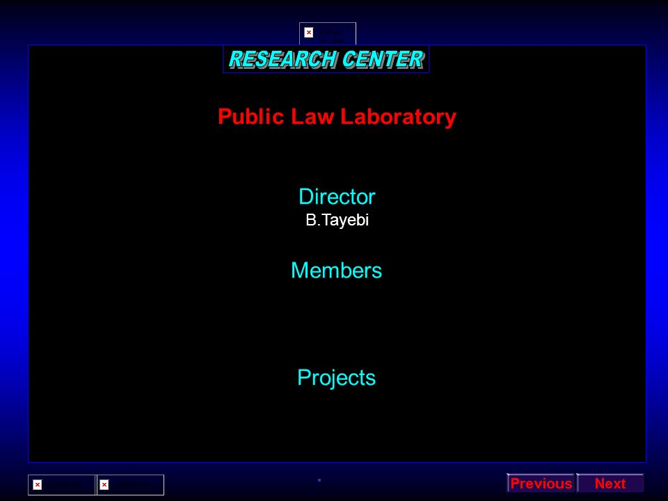 RESEARCH CENTER Public Law Laboratory Director Members Projects