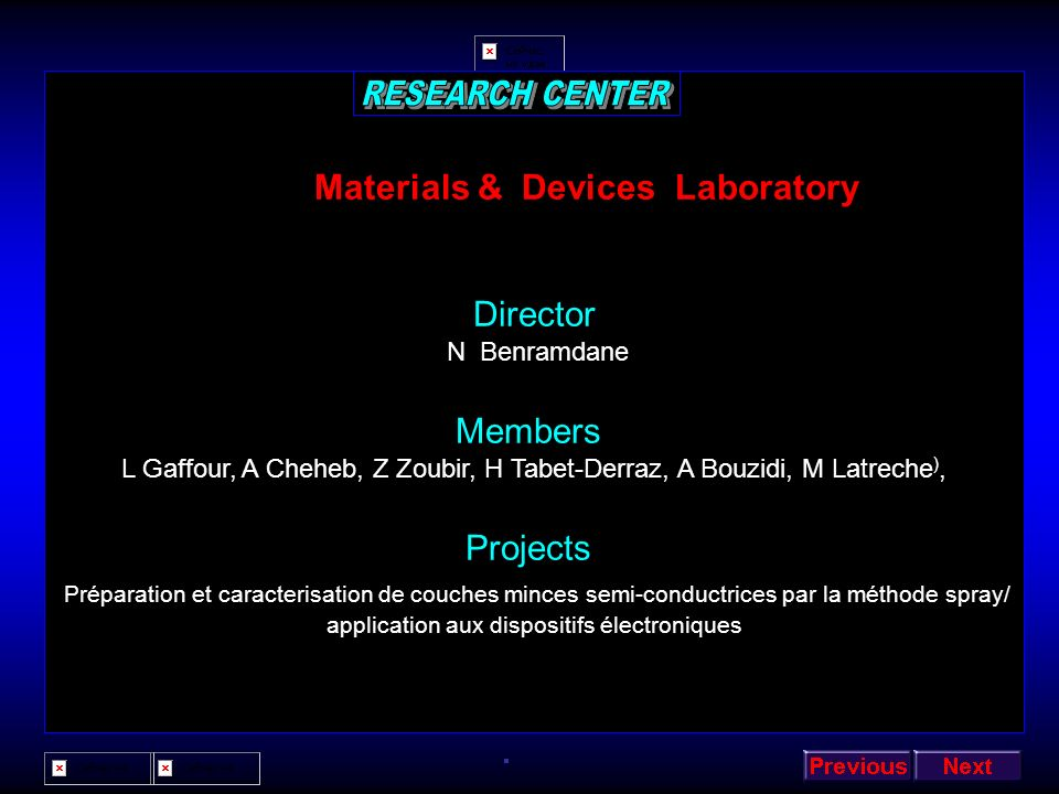 Materials & Devices Laboratory
