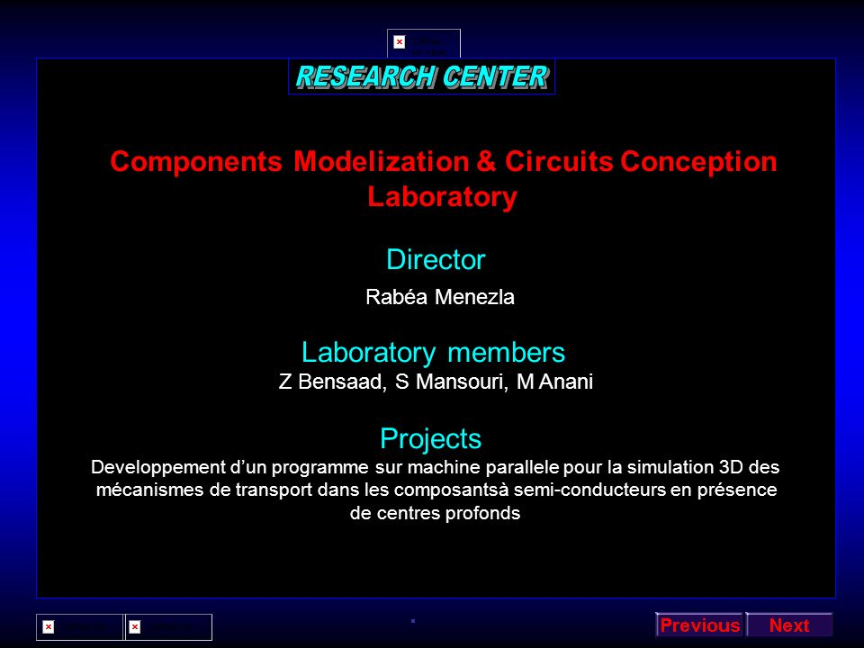 Components Modelization & Circuits Conception