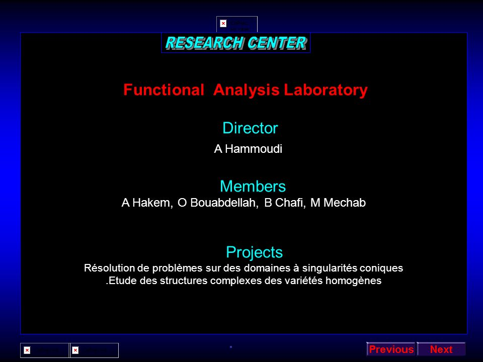 Functional Analysis Laboratory