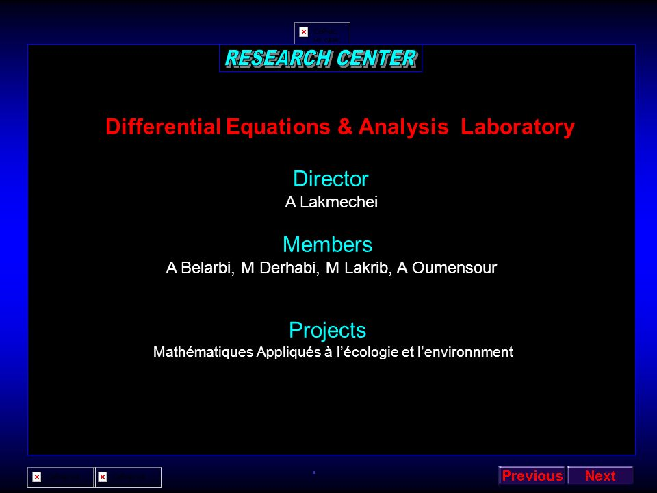 Differential Equations & Analysis Laboratory