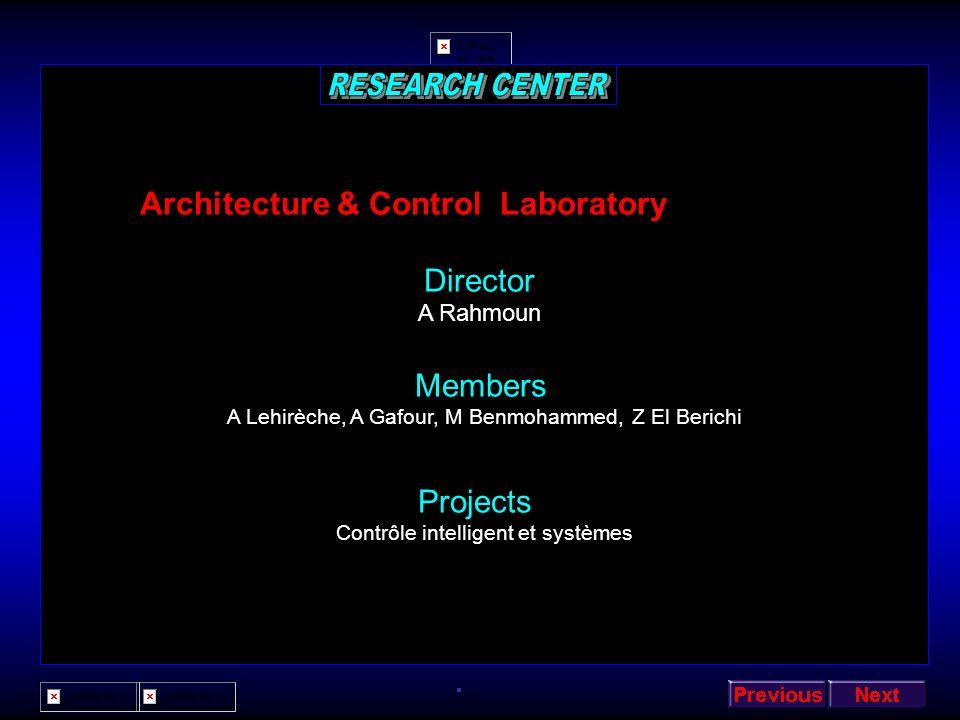 Architecture & Control Laboratory