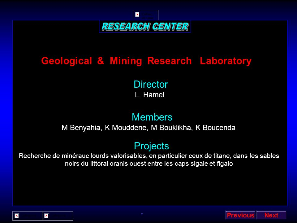 Geological & Mining Research Laboratory
