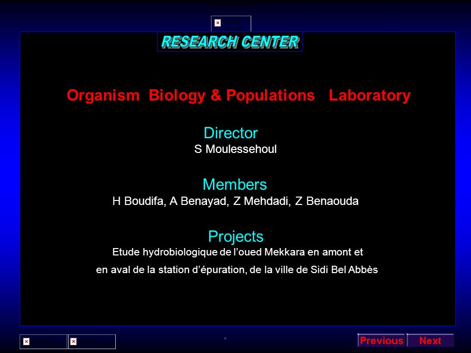 Organism Biology & Populations Laboratory