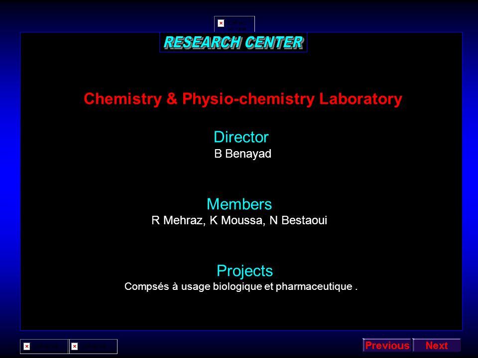 Chemistry & Physio-chemistry Laboratory