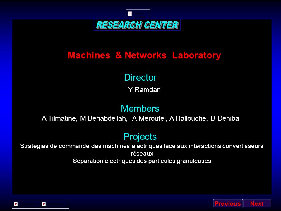 Machines & Networks Laboratory
