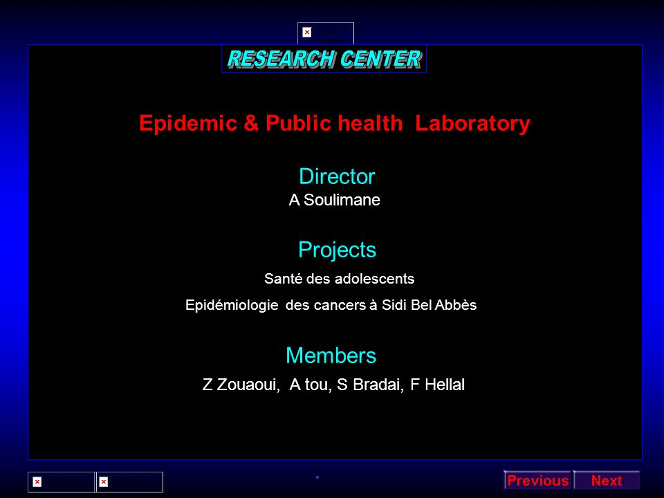 Epidemic & Public health Laboratory