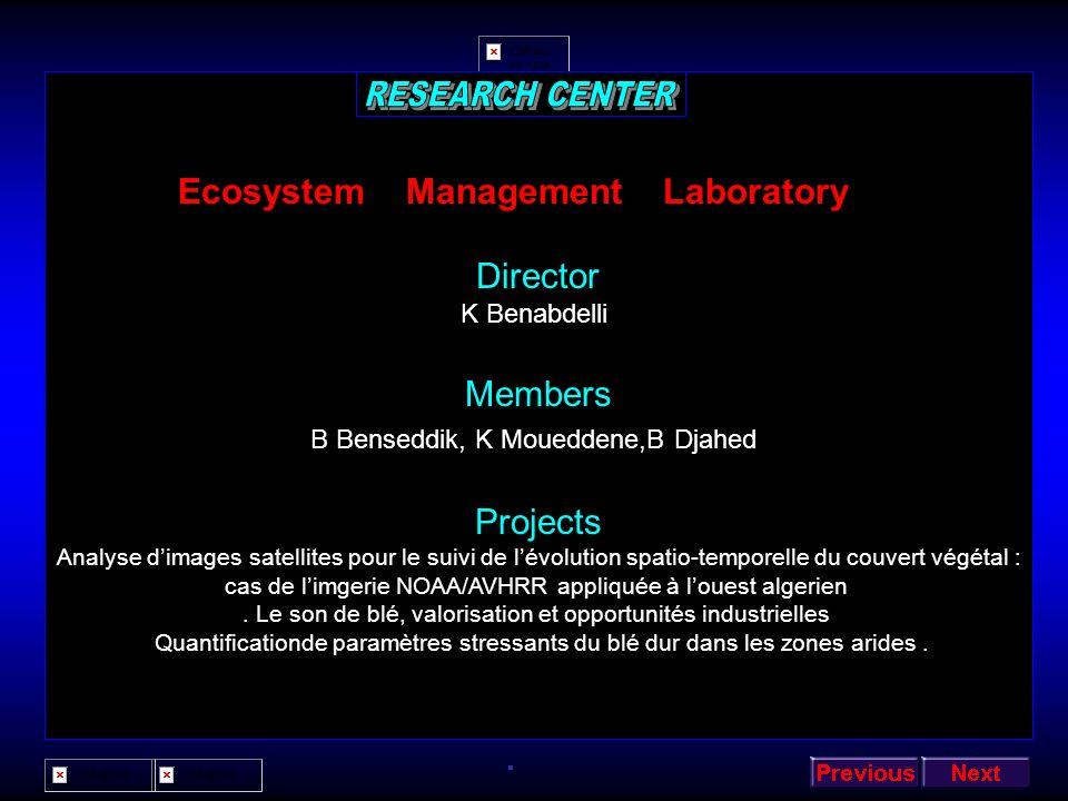 Ecosystem Management Laboratory