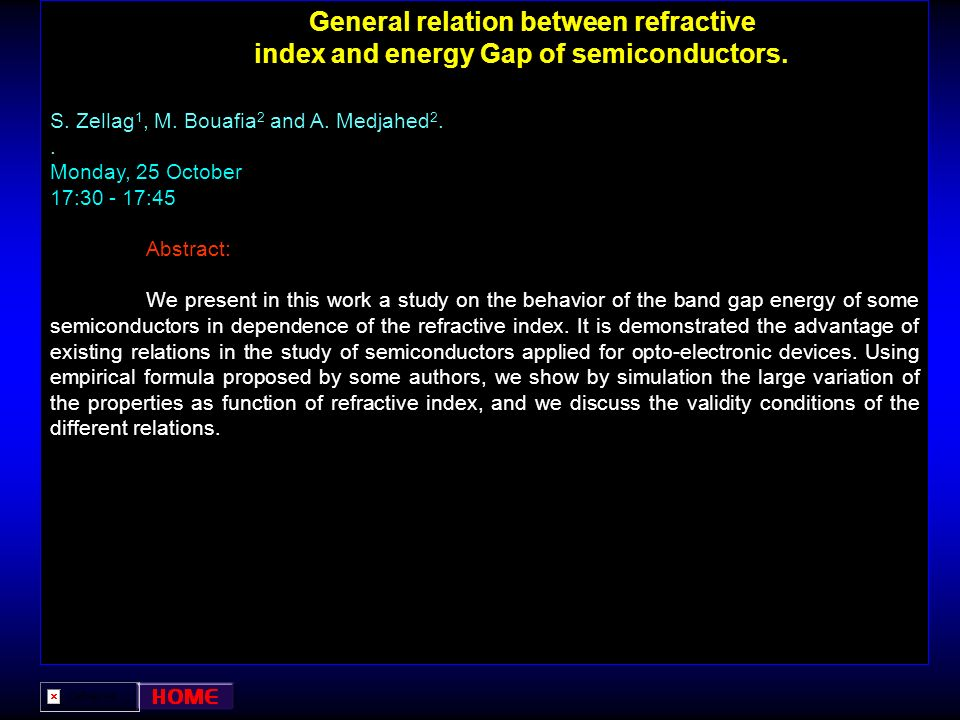 General relation between refractive