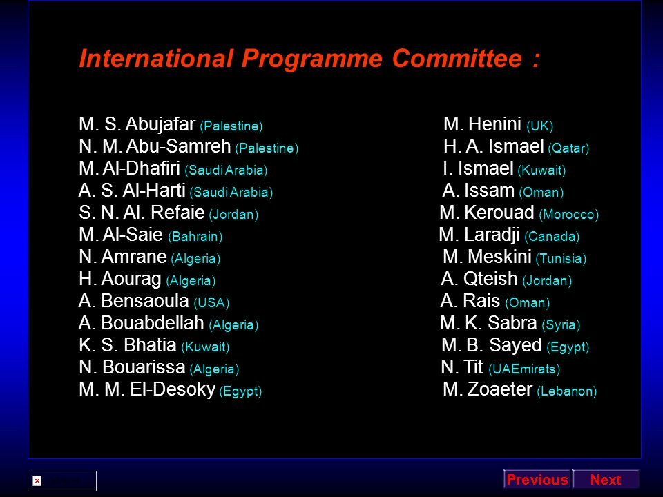 International Programme Committee :