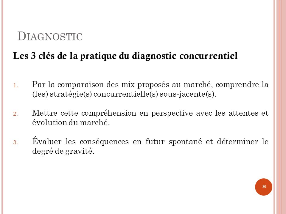 Diagnostic Les 3 clés de la pratique du diagnostic concurrentiel