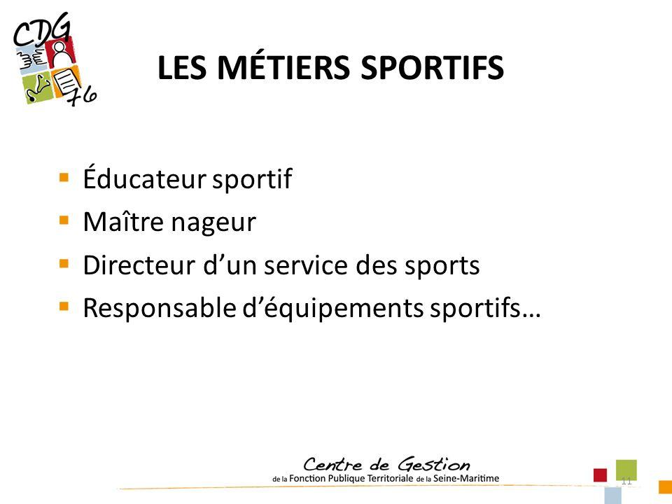 LES MÉTIERS SPORTIFS Éducateur sportif Maître nageur