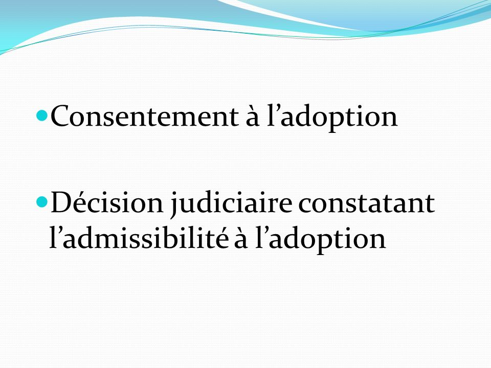 Consentement à l'adoption