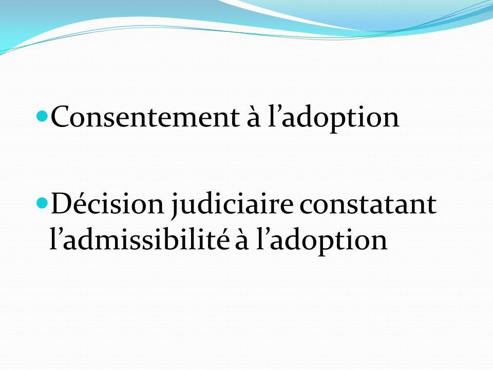 Consentement à l'adoption