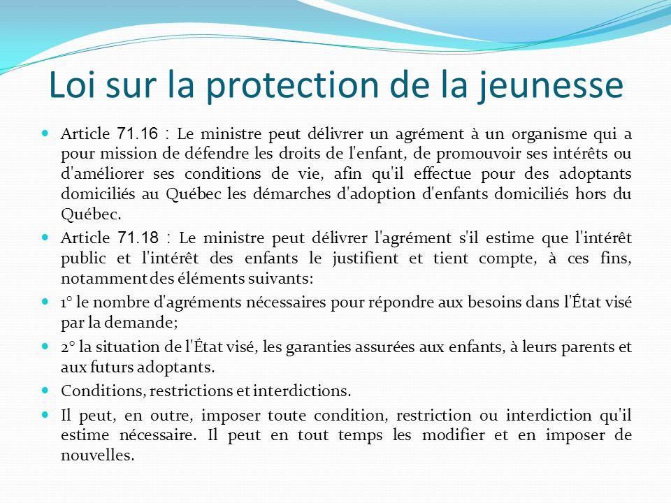 Loi sur la protection de la jeunesse