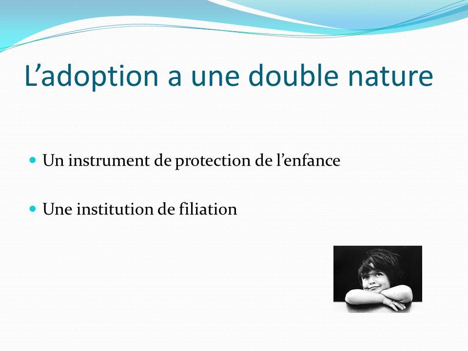 L'adoption a une double nature