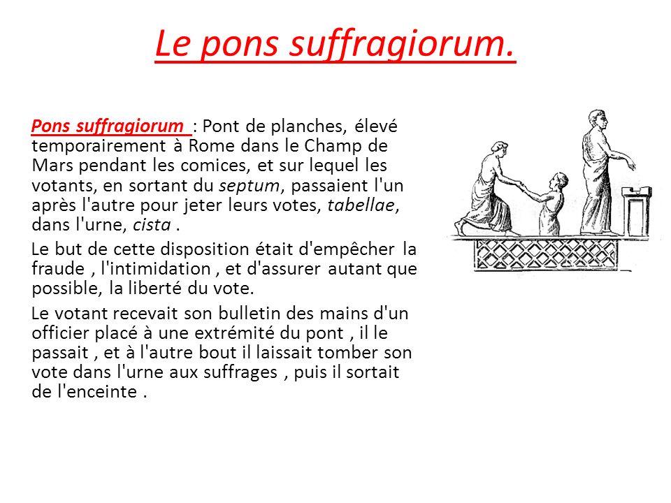 Le pons suffragiorum.