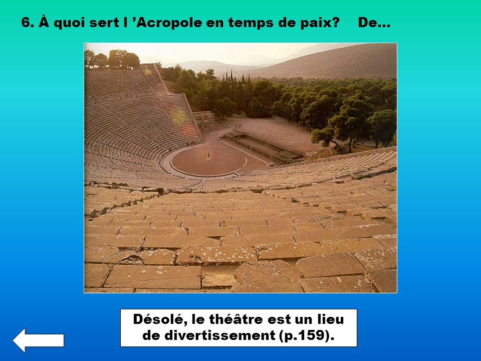 Désolé, le théâtre est un lieu de divertissement (p.159).