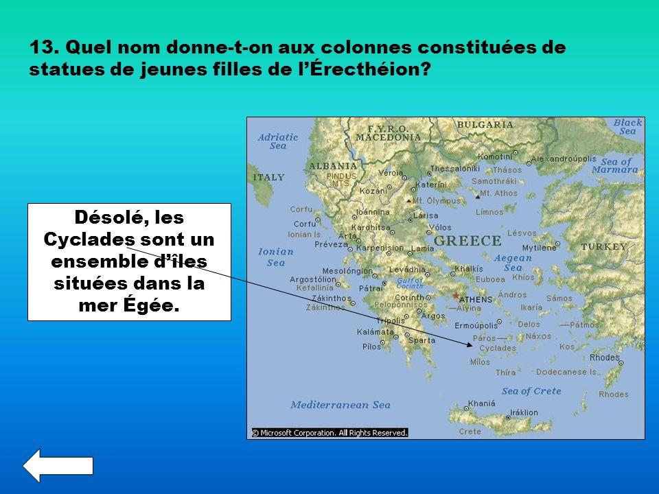 Désolé, les Cyclades sont un ensemble d'îles situées dans la mer Égée.