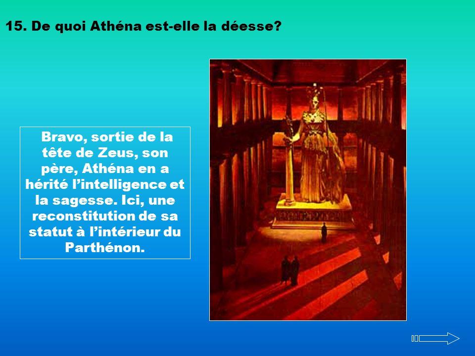 15. De quoi Athéna est-elle la déesse