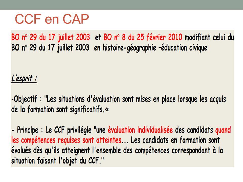 CCF en CAP