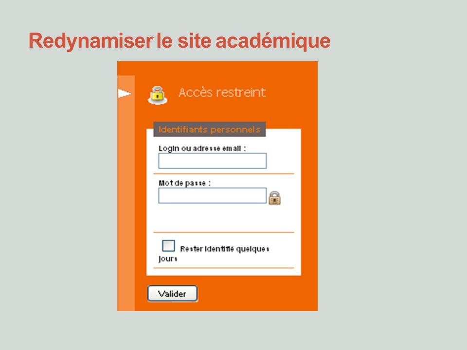 Redynamiser le site académique