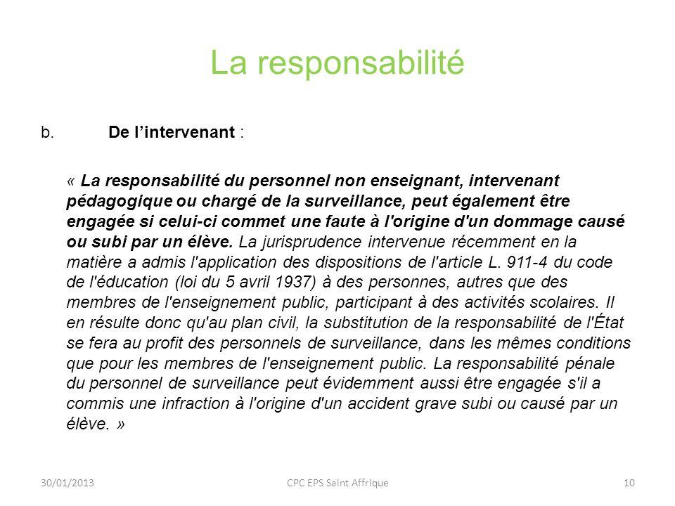 La responsabilité