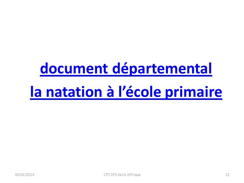 document départemental la natation à l'école primaire