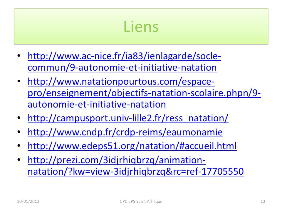 Liens http://www.ac-nice.fr/ia83/ienlagarde/socle-commun/9-autonomie-et-initiative-natation.