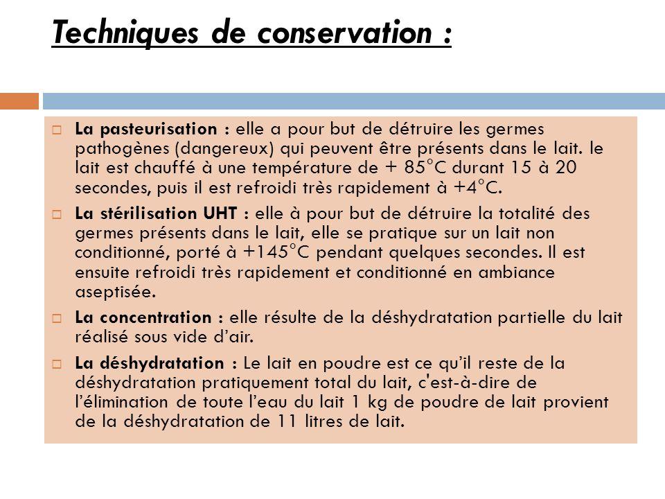 Techniques de conservation :