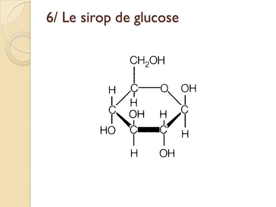 6/ Le sirop de glucose