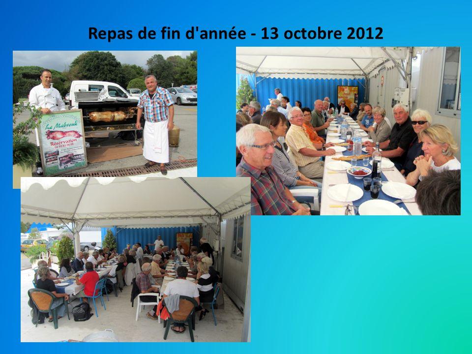 Repas de fin d année - 13 octobre 2012