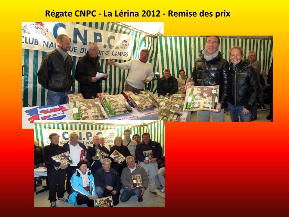 Régate CNPC - La Lérina 2012 - Remise des prix