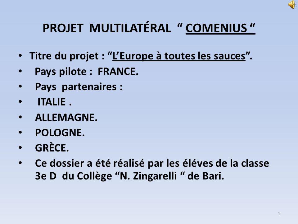 PROJET MULTILATÉRAL COMENIUS