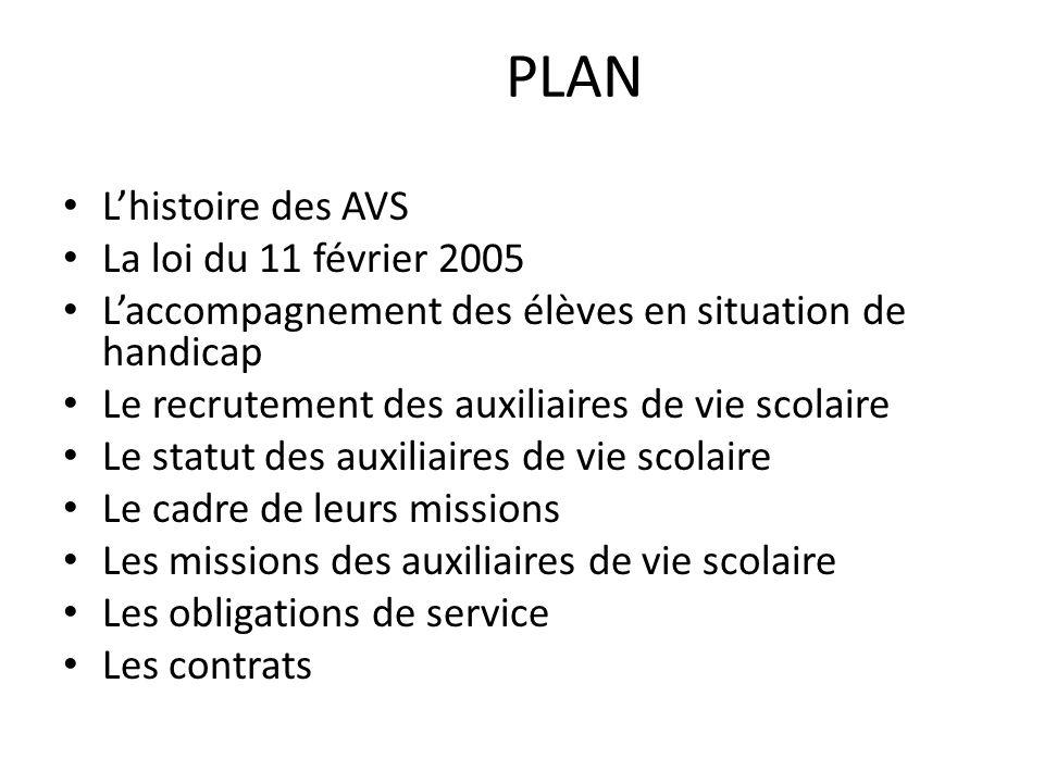 PLAN L'histoire des AVS La loi du 11 février 2005