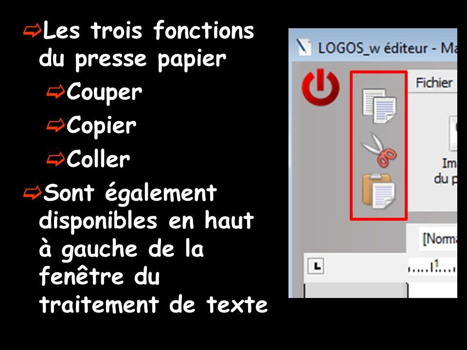 Les trois fonctions du presse papier