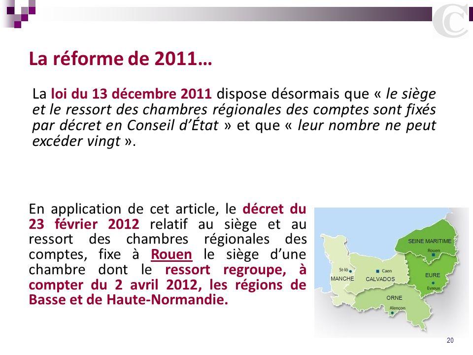 La réforme de 2011…