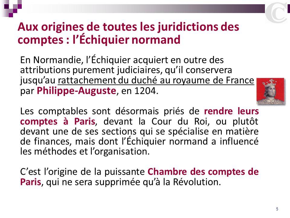 Aux origines de toutes les juridictions des comptes : l'Échiquier normand
