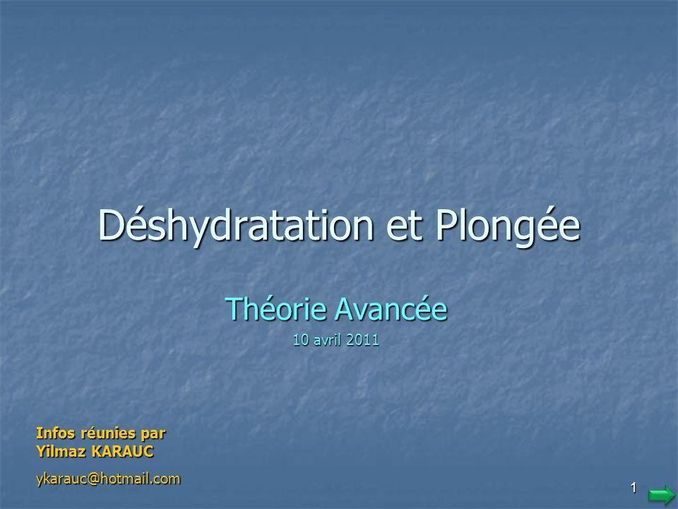 Déshydratation et Plongée