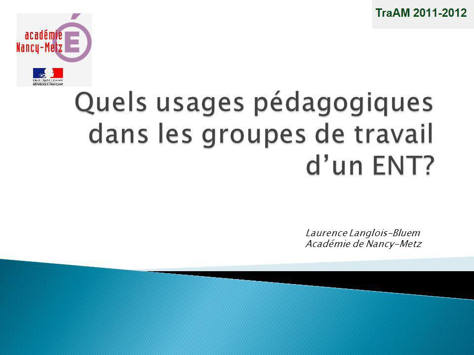 Quels usages pédagogiques dans les groupes de travail d'un ENT
