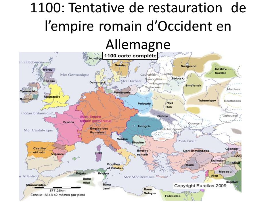 1100: Tentative de restauration de l'empire romain d'Occident en Allemagne