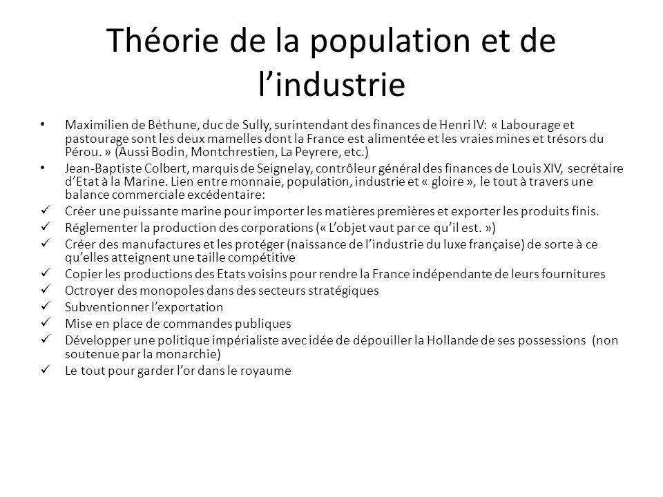 Théorie de la population et de l'industrie