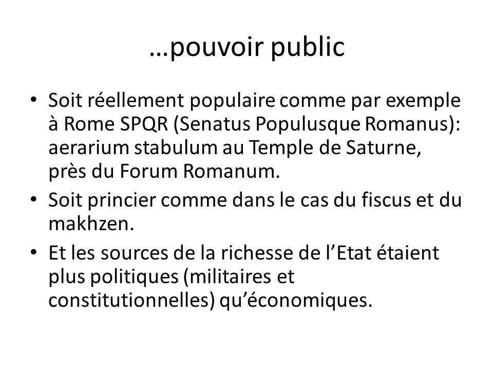 …pouvoir public