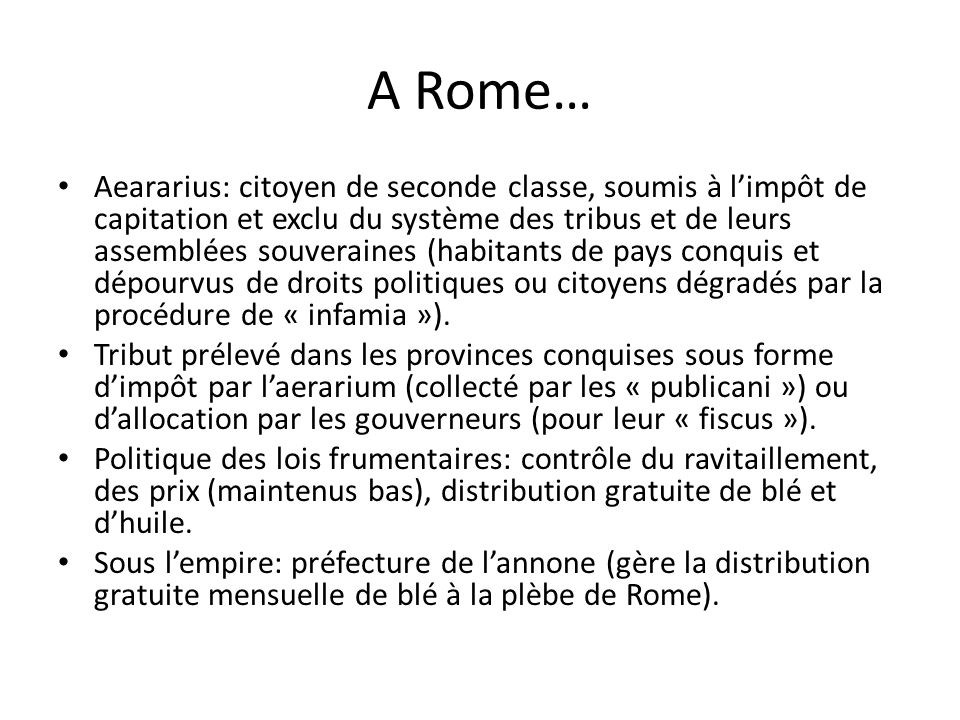 A Rome…