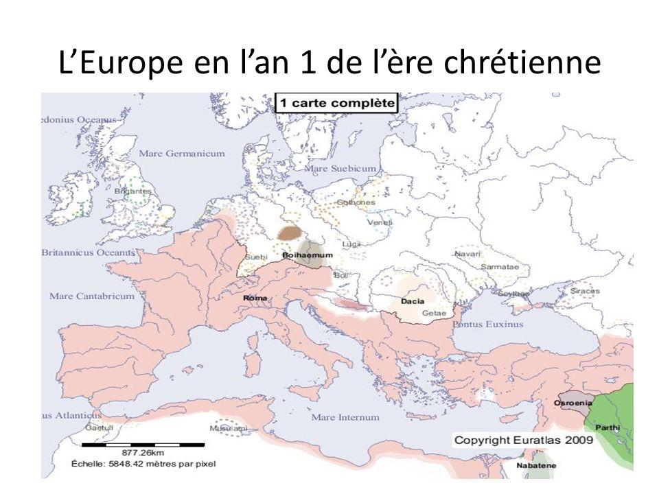 L'Europe en l'an 1 de l'ère chrétienne