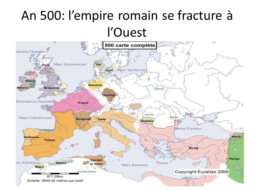 An 500: l'empire romain se fracture à l'Ouest