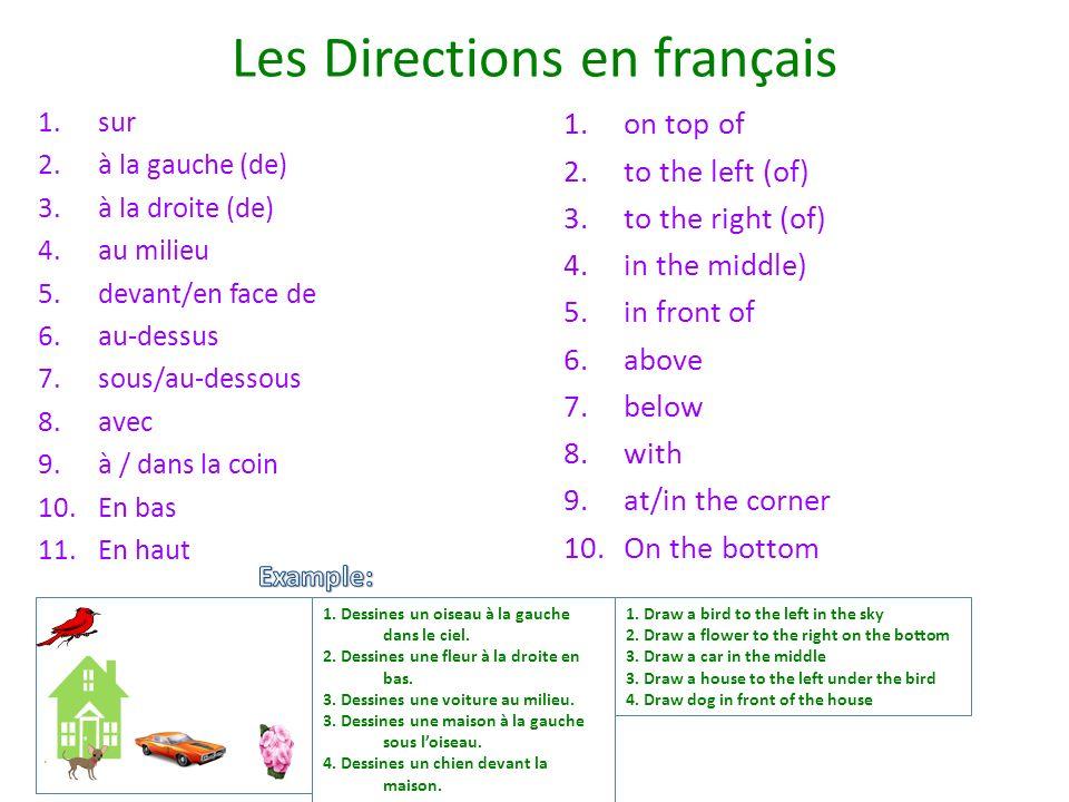 Les Directions en français
