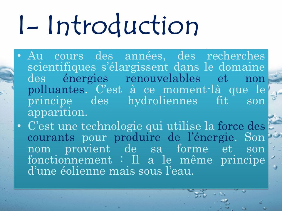 I- Introduction